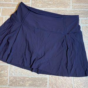 Lululemon 10 Tall Blue Pleated Skort Womens